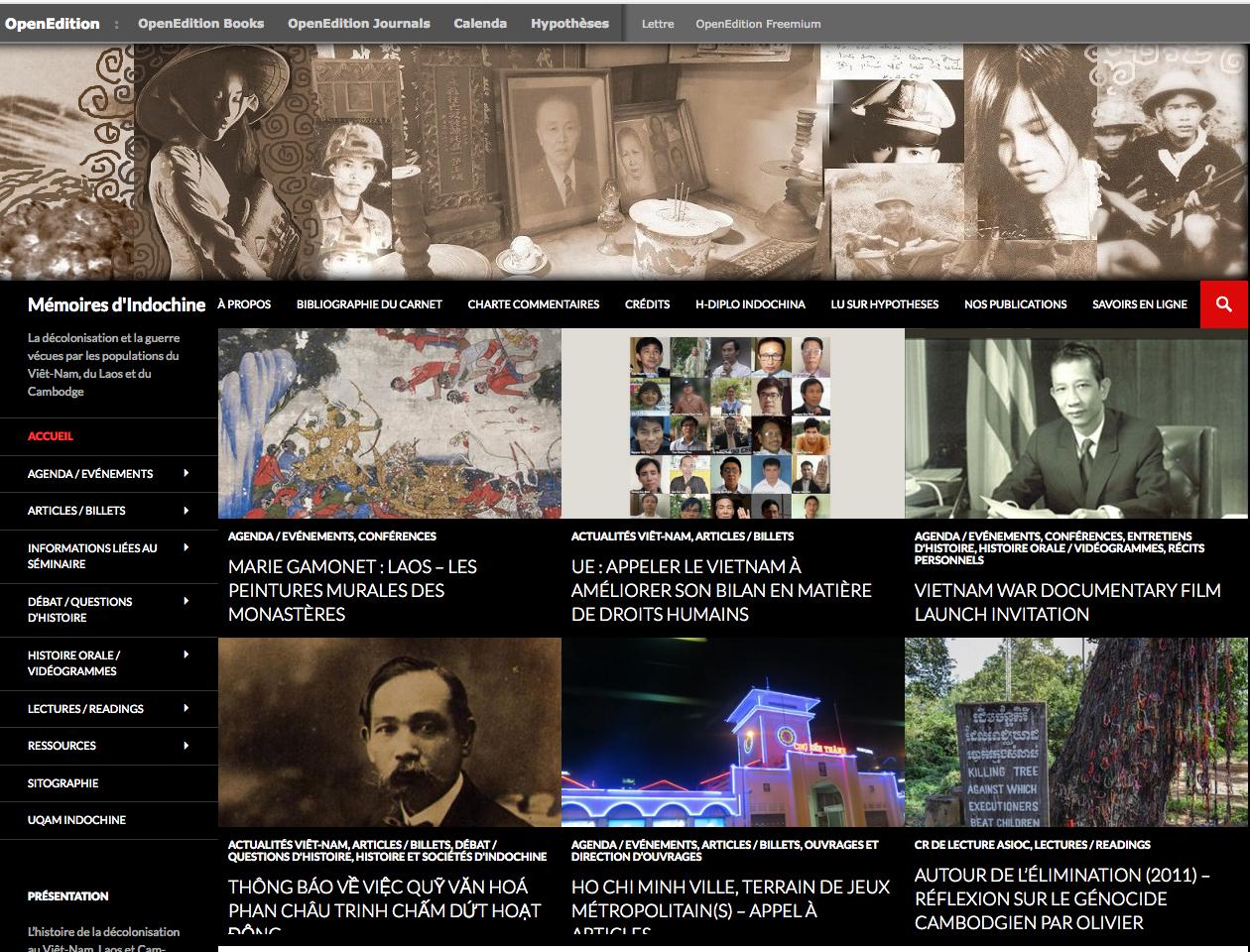 Mémoires Indochine et du Vietnam contemporain