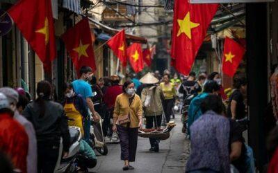 Ville Vietnamienne bondée